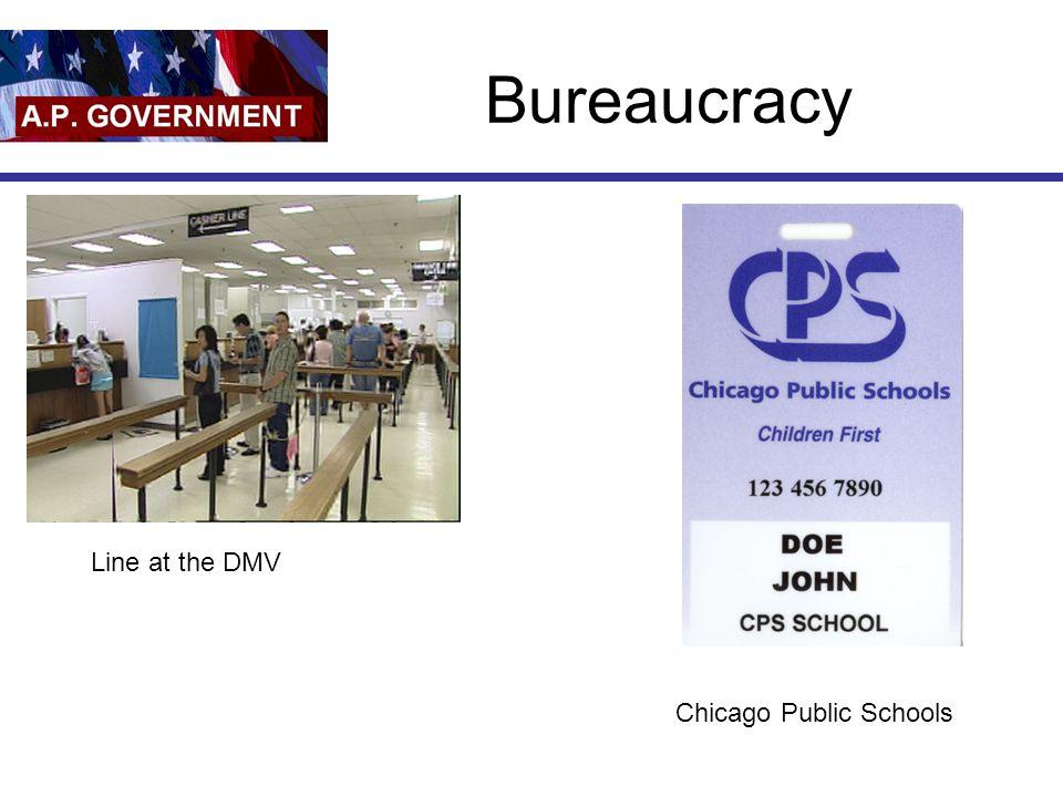 Bureaucracy Line at the DMV Chicago Public Schools