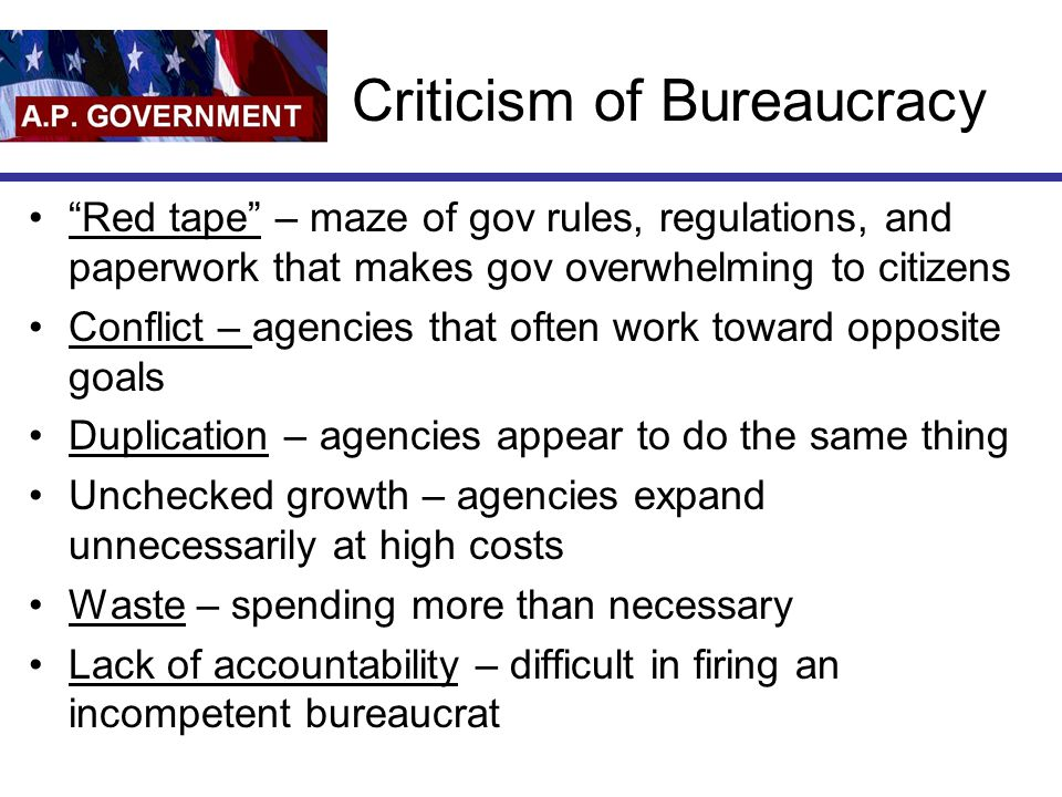 Criticism of Bureaucracy