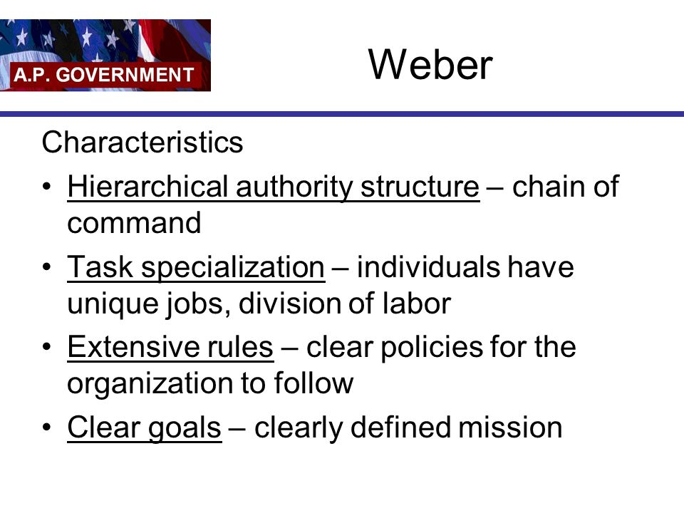 Weber Characteristics