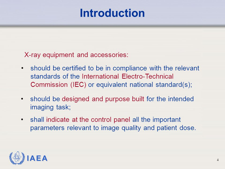 Introduction X-ray equipment and accessories: