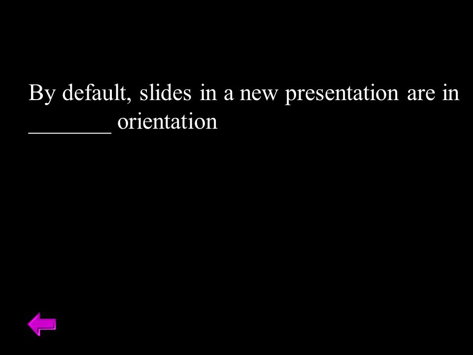By default, slides in a new presentation are in