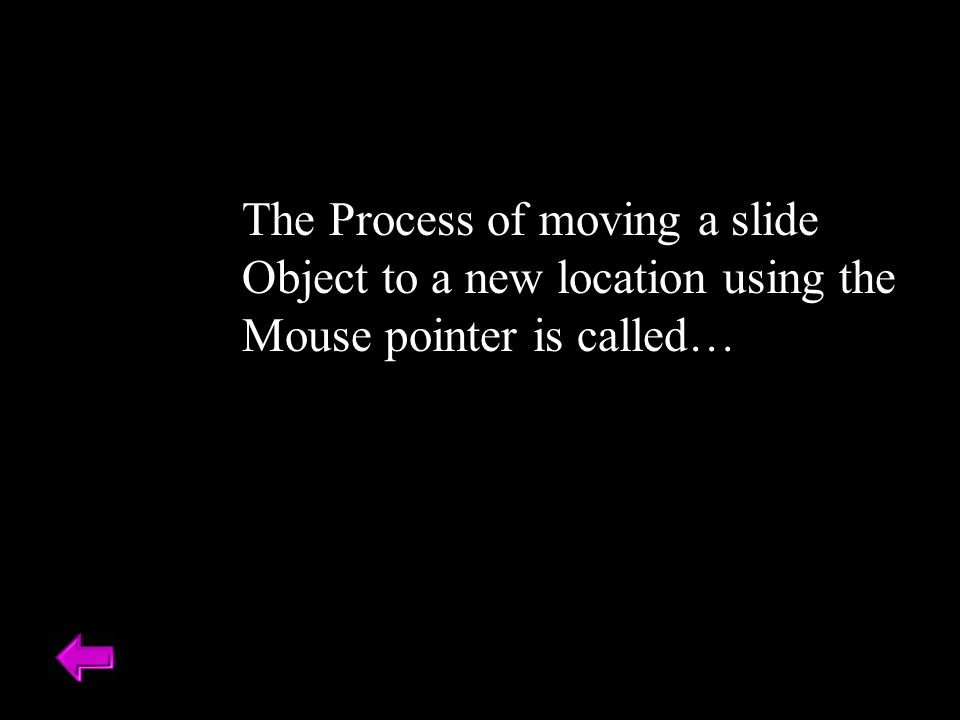 The Process of moving a slide