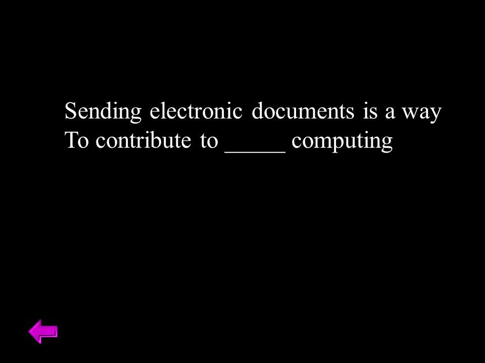 Sending electronic documents is a way