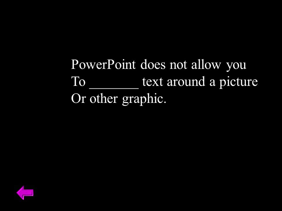PowerPoint does not allow you
