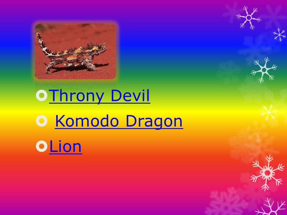 Throny Devil Komodo Dragon Lion