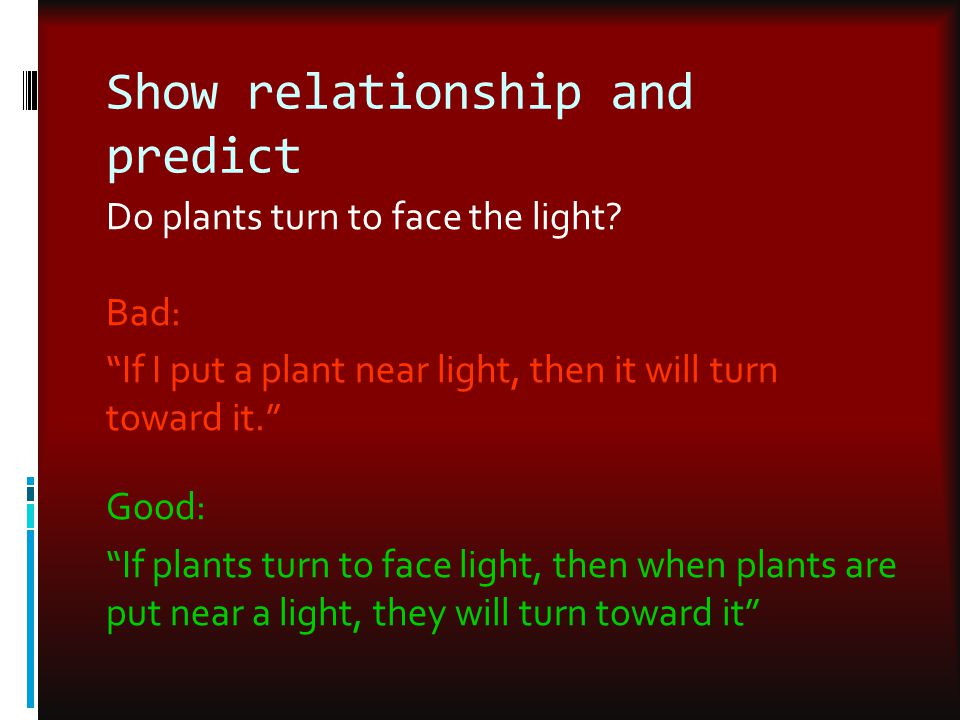 Show relationship and predict