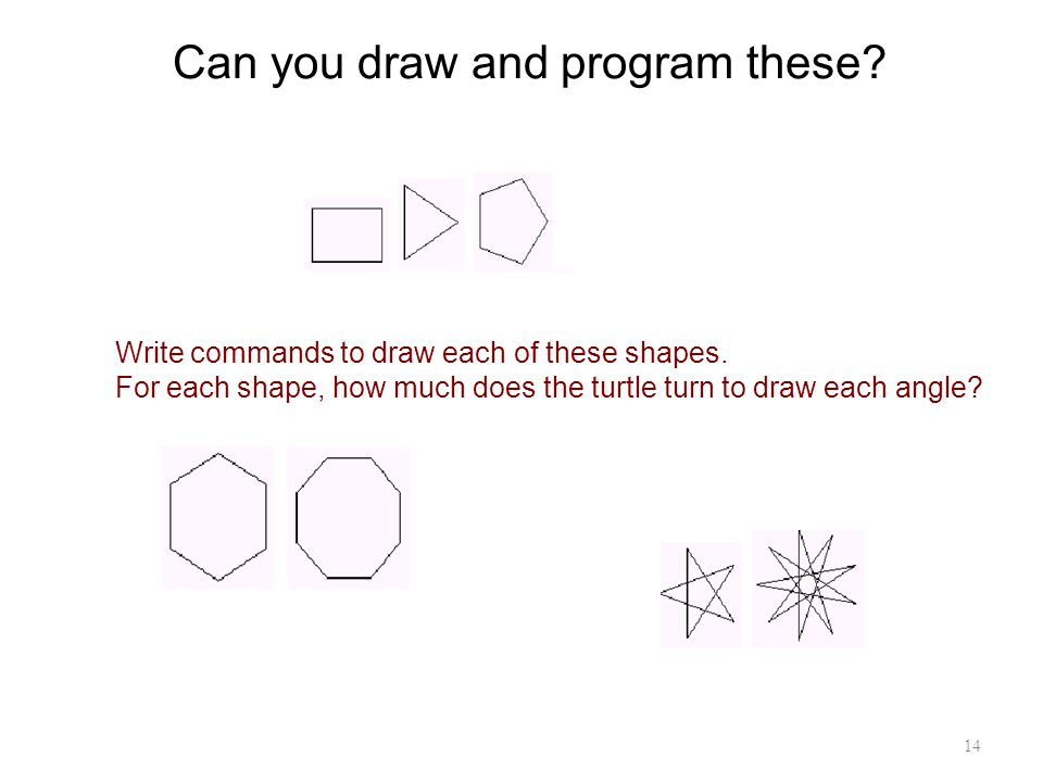 Can you draw and program these