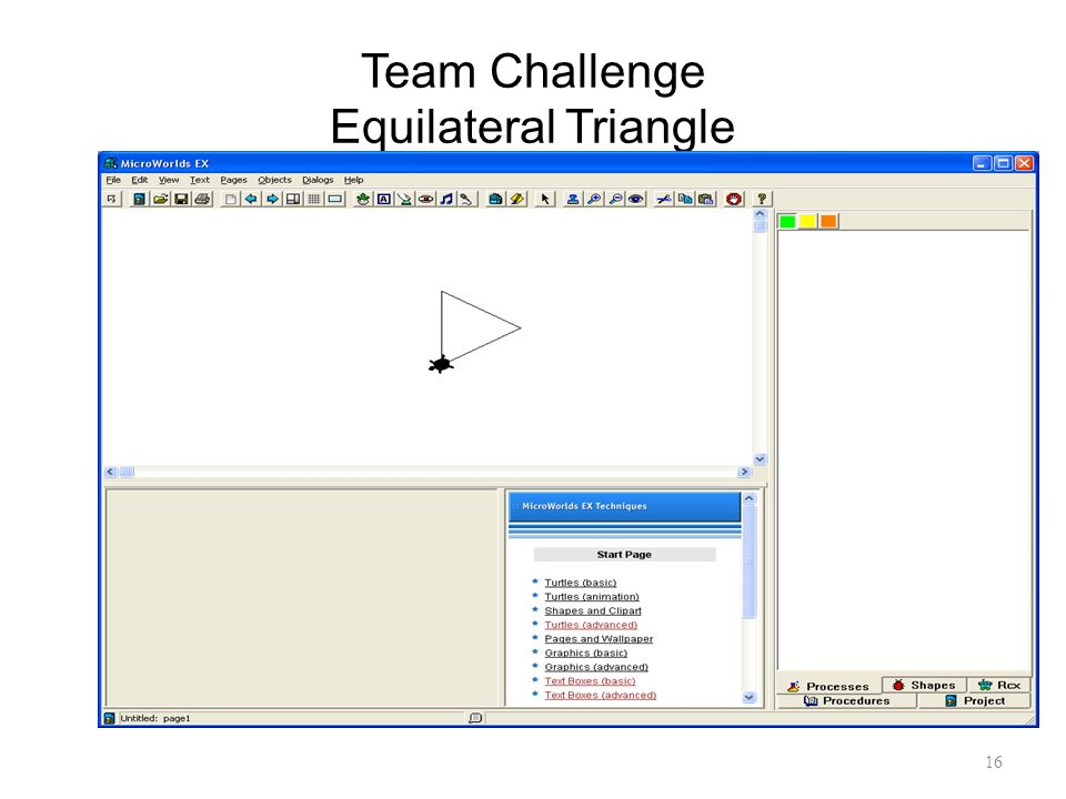 Team Challenge Equilateral Triangle
