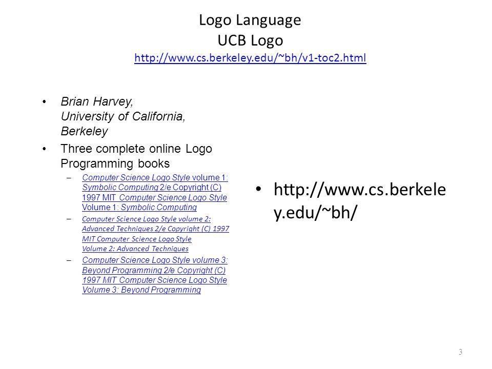 Logo Language UCB Logo http://www.cs.berkeley.edu/~bh/v1-toc2.html