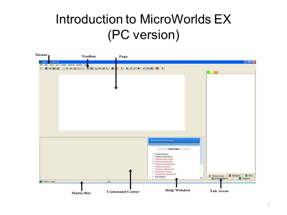 Introduction to MicroWorlds EX (PC version)