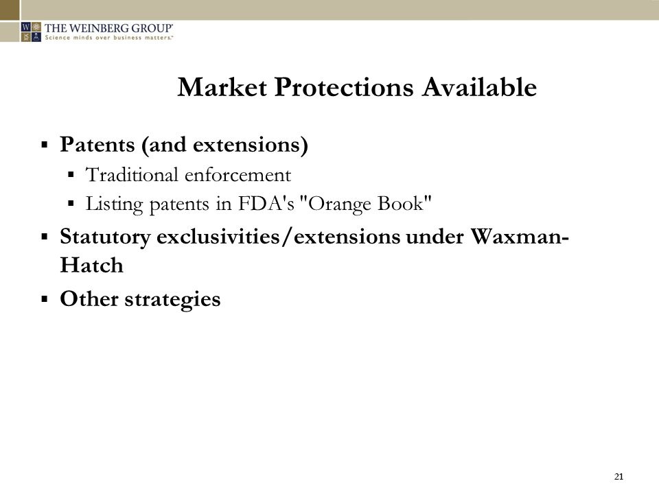 Market Protections Available