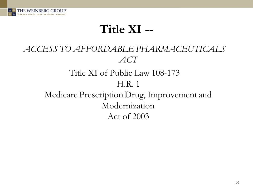 ACCESS TO AFFORDABLE PHARMACEUTICALS ACT