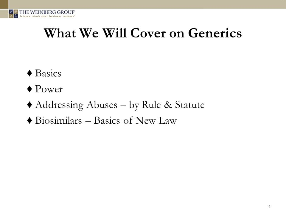 What We Will Cover on Generics