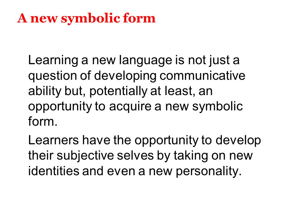 A new symbolic form