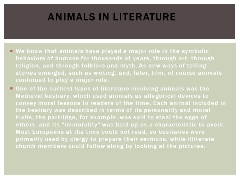 Animals in Literature