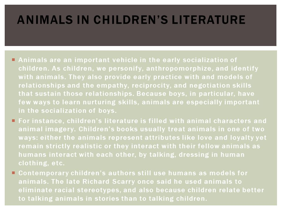 Animals in Children's Literature
