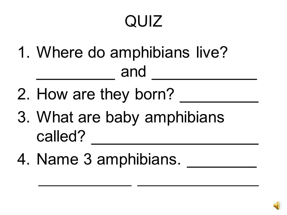 Where do amphibians live _________ and ____________