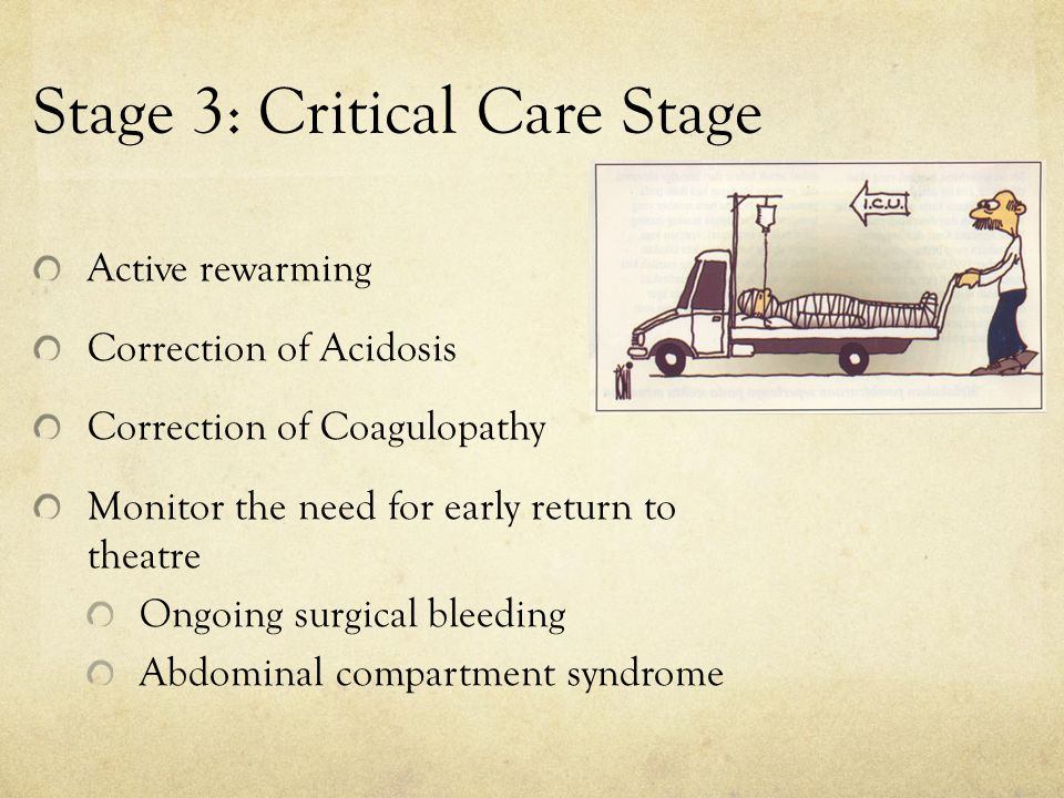Stage 3: Critical Care Stage