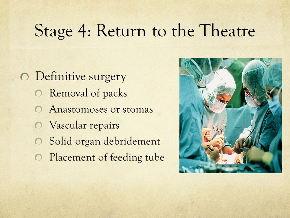 Stage 4: Return to the Theatre