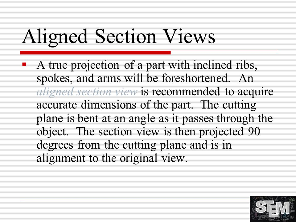 Aligned Section Views