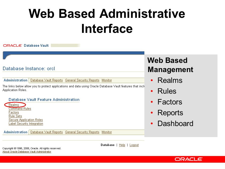 Web Based Administrative Interface