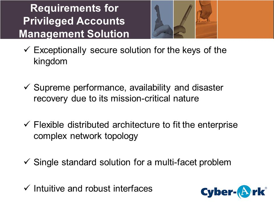 Requirements for Privileged Accounts Management Solution