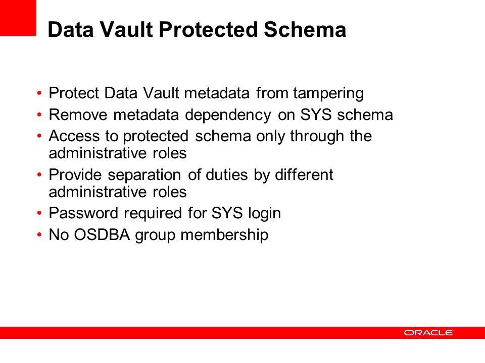 Data Vault Protected Schema