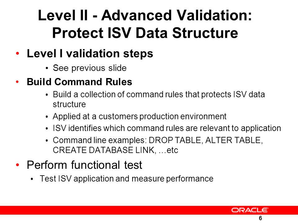 Level II - Advanced Validation: Protect ISV Data Structure