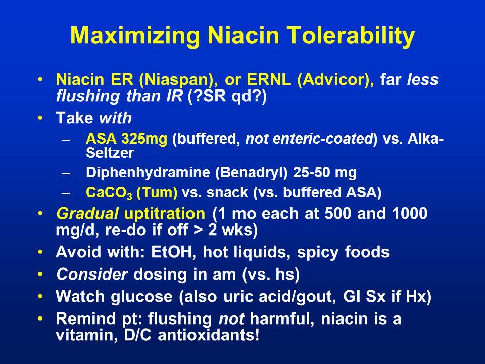 Maximizing Niacin Tolerability