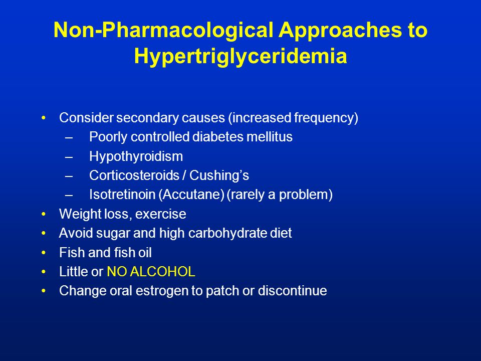 Non-Pharmacological Approaches to Hypertriglyceridemia