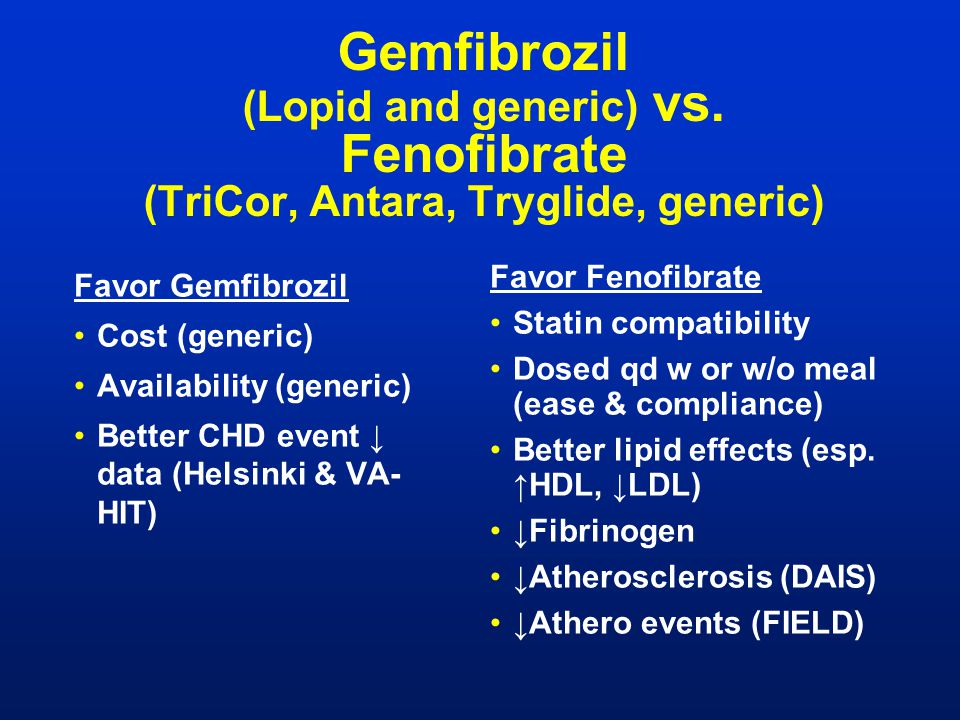 Gemfibrozil Lopid Adverse Effects