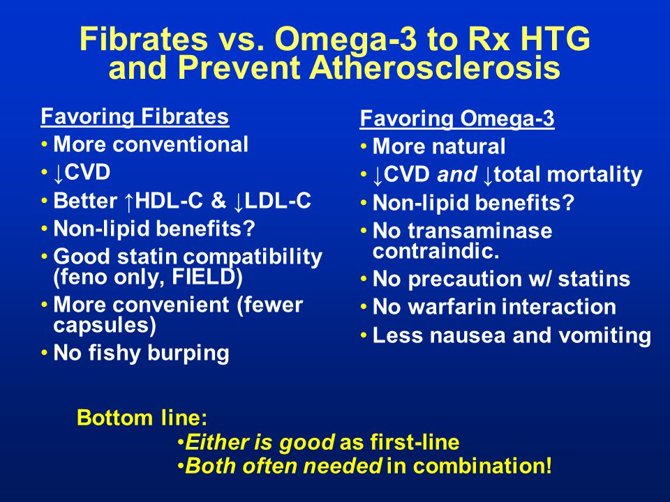 Fibrates vs. Omega-3 to Rx HTG and Prevent Atherosclerosis