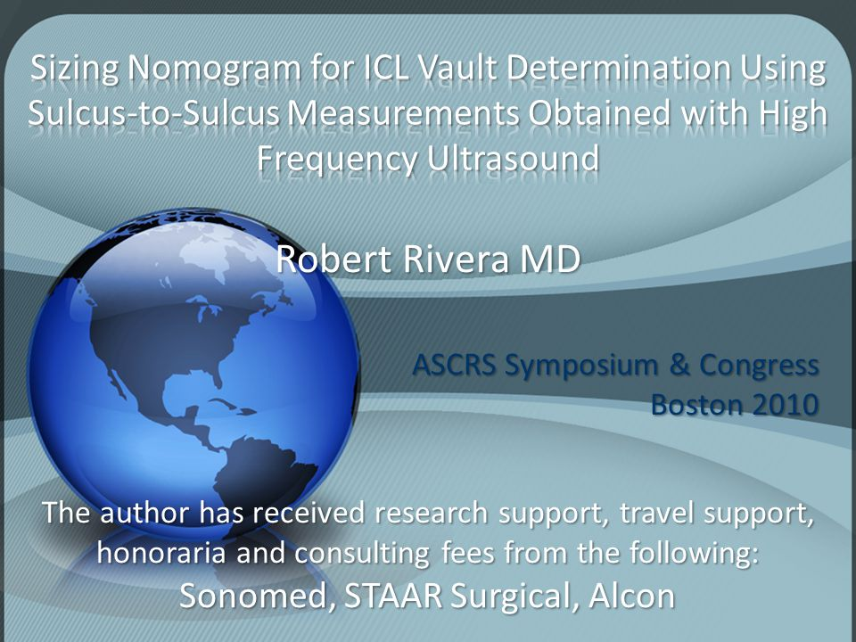 Sonomed, STAAR Surgical, Alcon