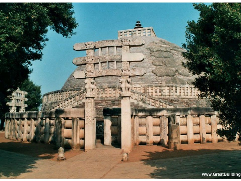 Great Stupa at Sanchi, 3rd century. Dome