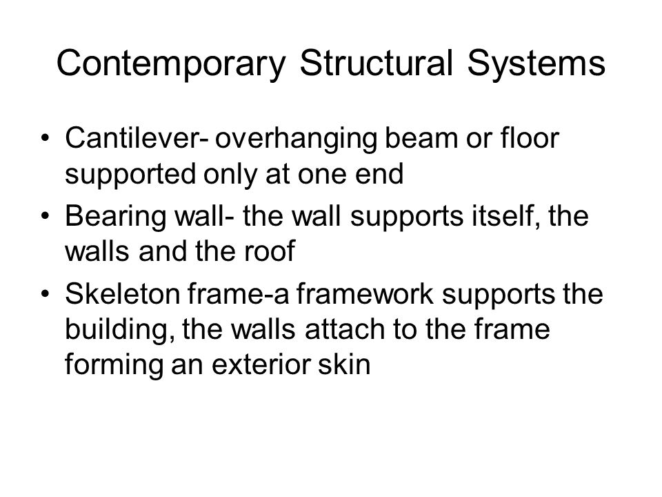 Contemporary Structural Systems