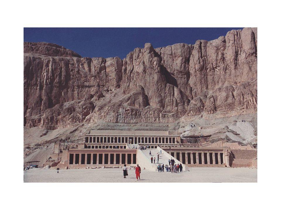 Horizontal format- Queen Hatshepsut mortuary temple. circa 1500 BCE