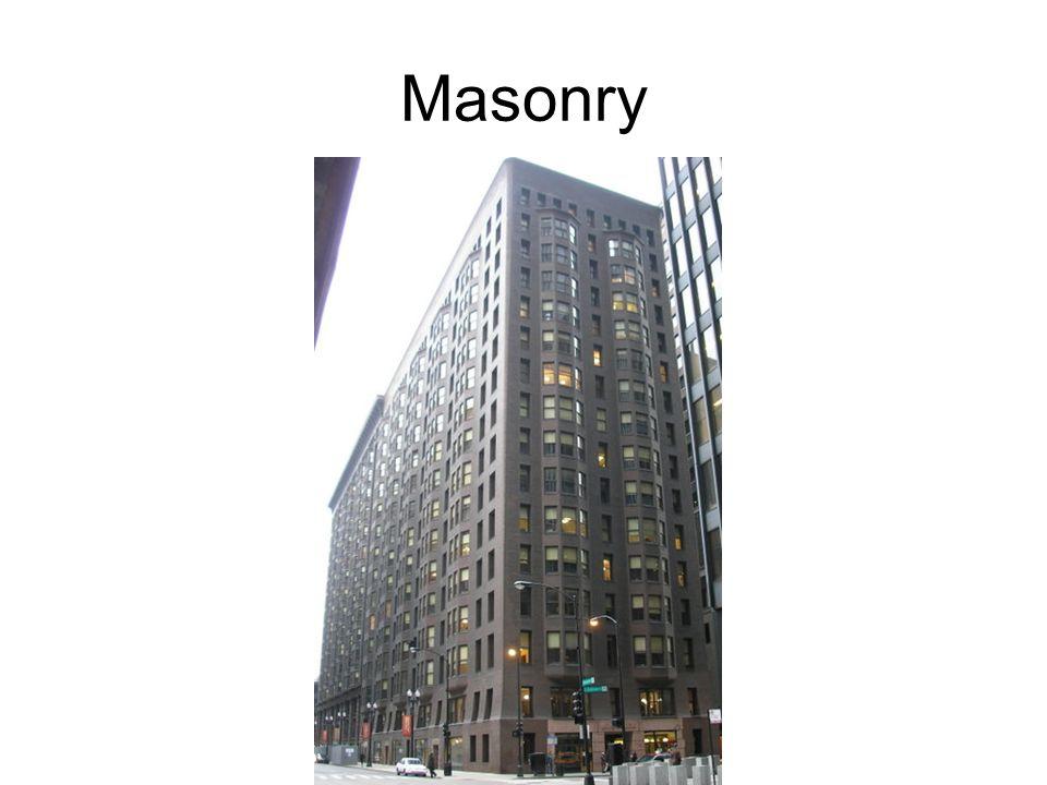 Masonry Monandnock Building, Chicago, 1891. Architects: Burnam and Root. Masonry