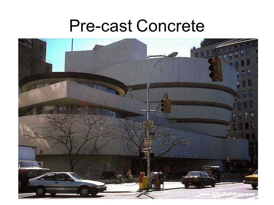 Pre-cast Concrete Frank Lloyd Wright: Guggenheim Museum, NYC 1959