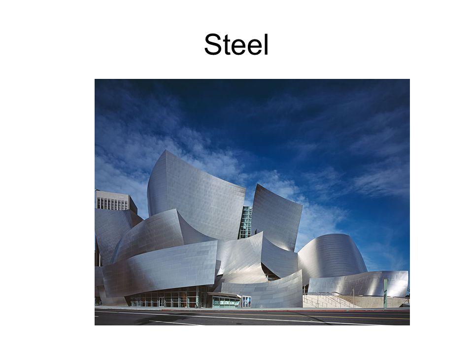 Steel Frank Gehry: Walt Disney Concert Hall, Los Angeles, 2003: Steel & titanium sheeting