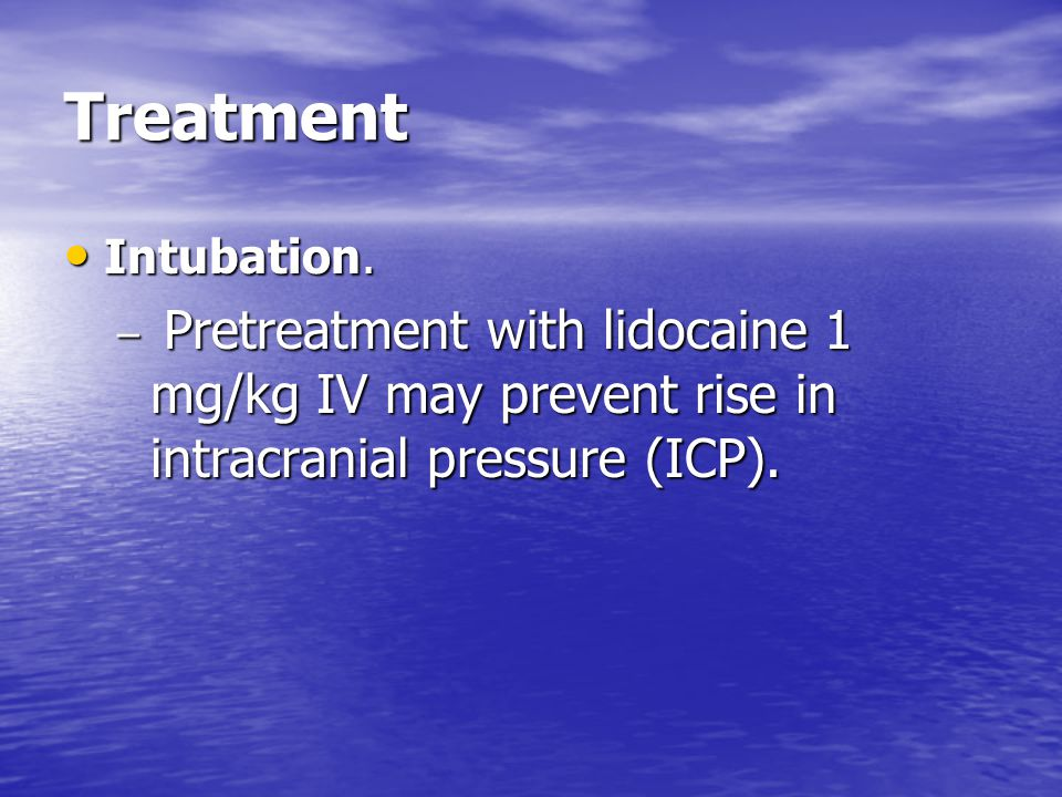 Treatment Intubation.