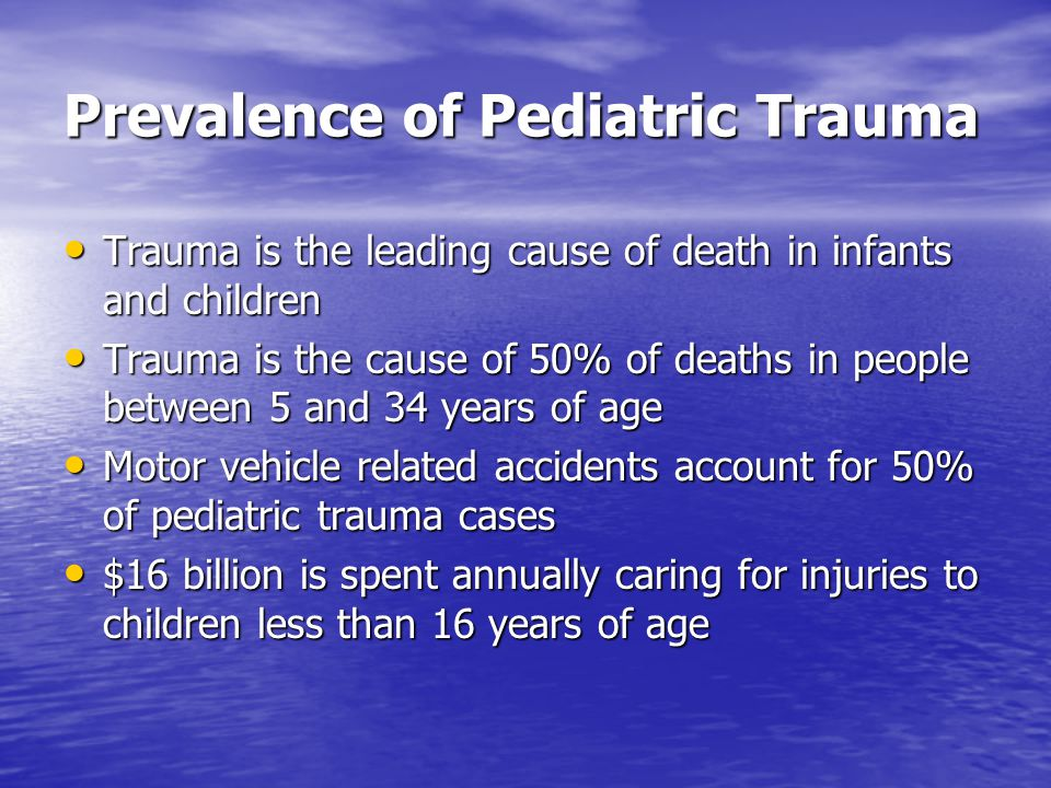 Prevalence of Pediatric Trauma