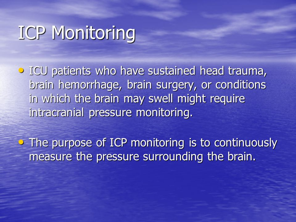 ICP Monitoring