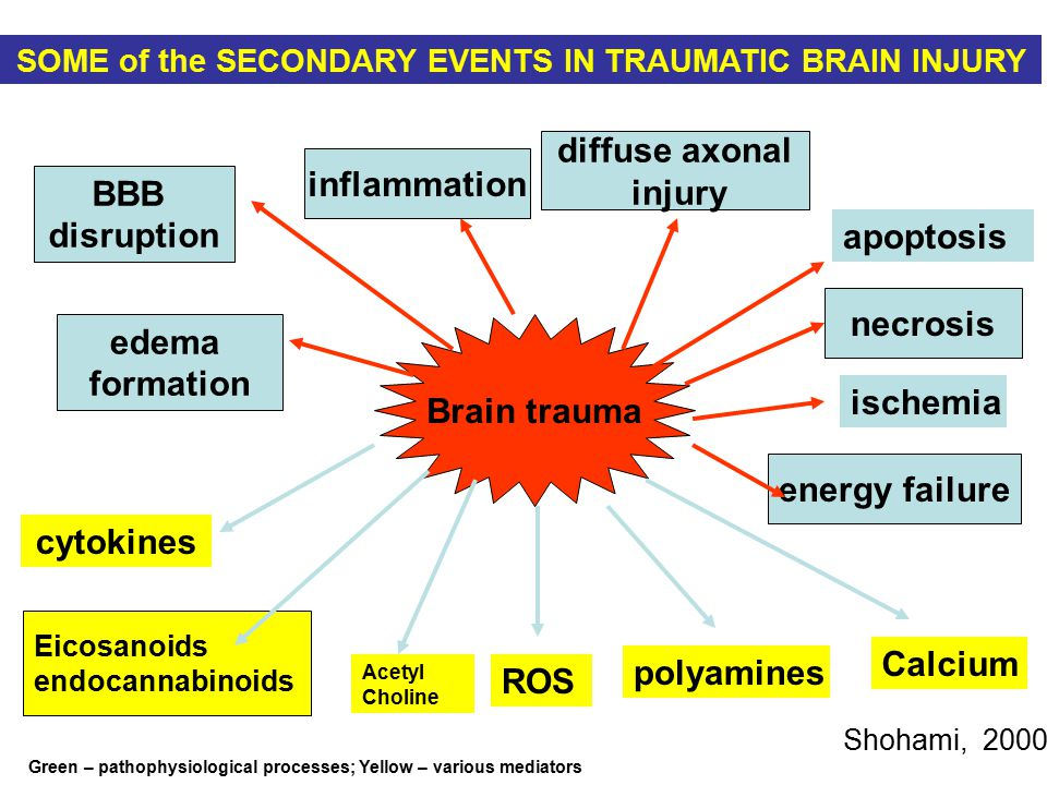 SOME of the SECONDARY EVENTS IN TRAUMATIC BRAIN INJURY