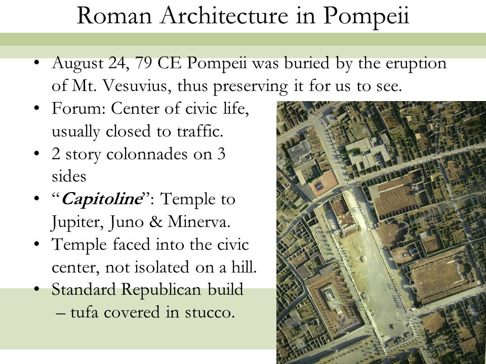 Roman Architecture in Pompeii