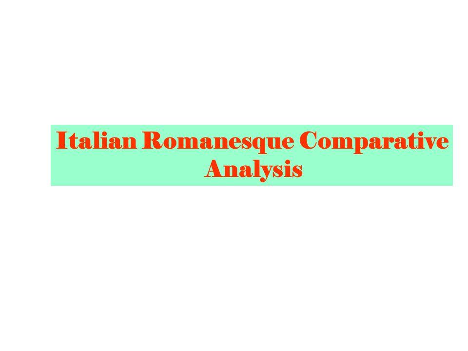 Italian Romanesque Comparative