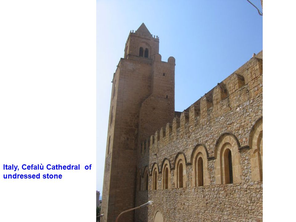 Italy, Cefalù Cathedral of undressed stone