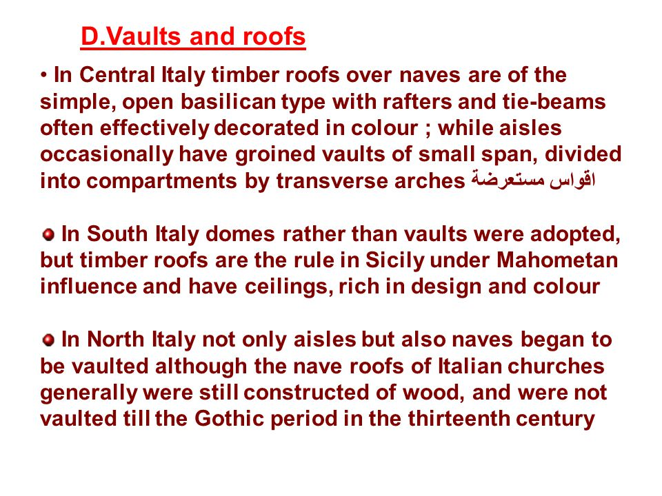 D.Vaults and roofs