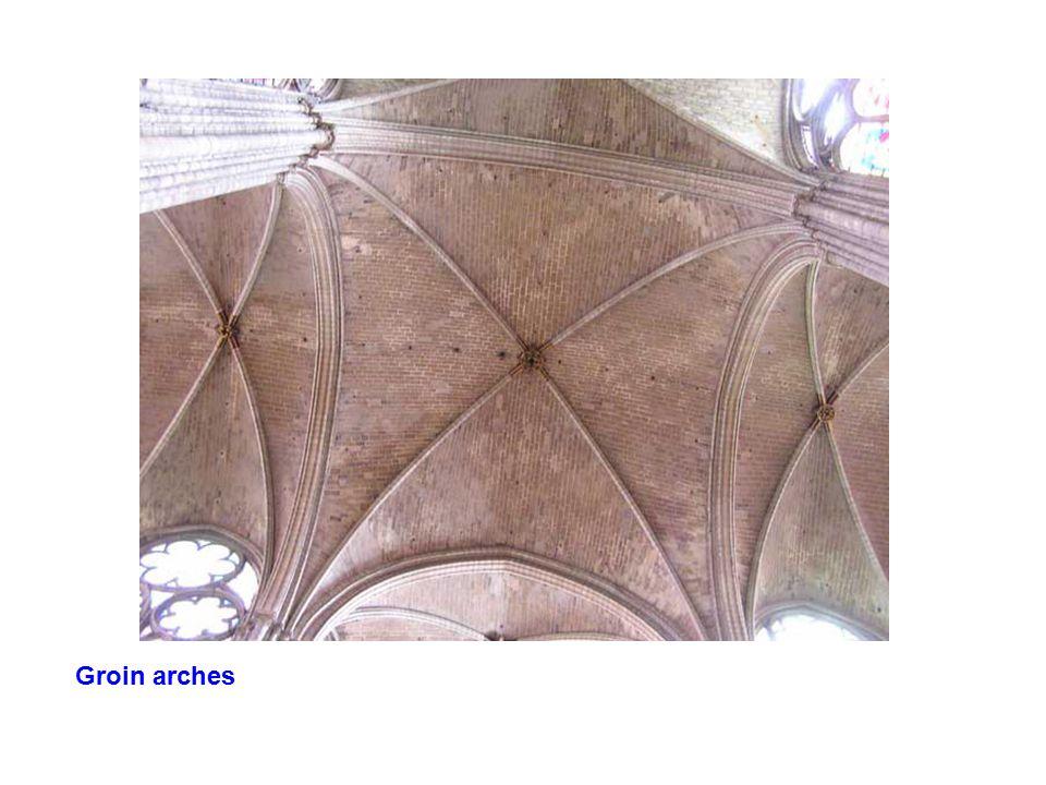 Groin arches