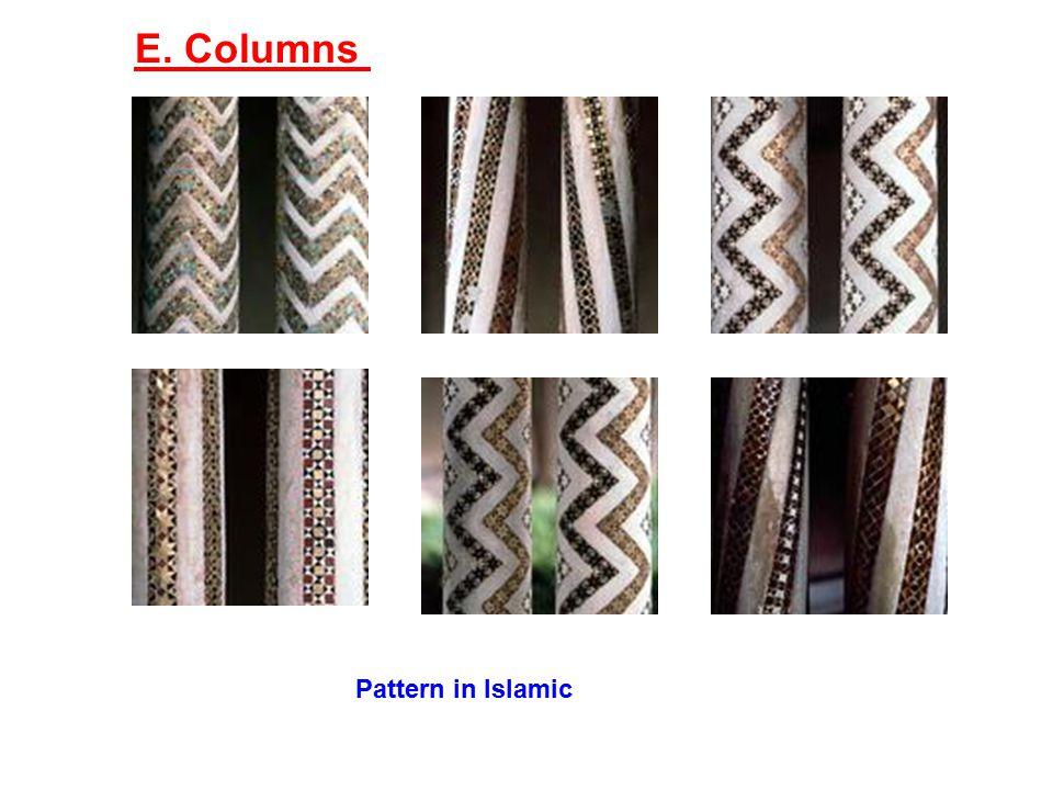 E. Columns Pattern in Islamic