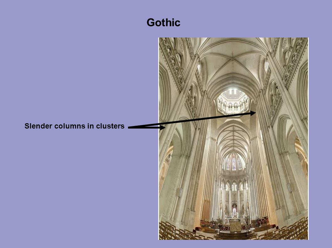 Gothic Slender columns in clusters